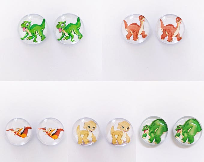The 'Land Before Time' Glass Earring Studs