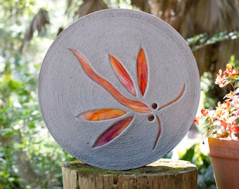 Red Orange Dragonfly Stepping Stone
