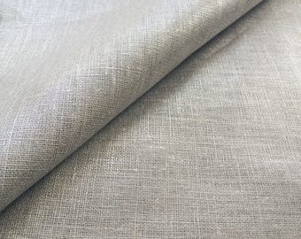 Fabric 100% lin lamé silver / silver - price is for 25 cm