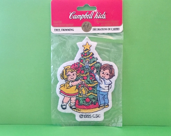 """Campbell Kids Christmas Patch """"Tree Trimming"""" (1995)"""