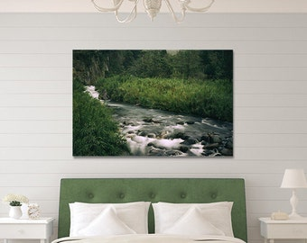 Mountain River Photo,Forest River Print,Jungle River Photo,Forest Photograph,Wild River Photo,River Landscape,Jungle Photography,Metal Print