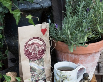 APHRODITES MOON TEA - Organic herbal Women's balance Menstrual cramps Pms Menopause Remedy Calming Soothing Herb Herbs Chamomille