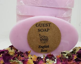 English Rose Guest Soaps - Mini Soaps - Soap Gifts - Guest Soaps - Guesthouse Soaps - Guest Soap Gift - VRBO Guest Soaps - Condo Soaps