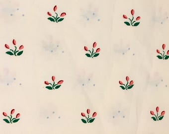 Vintage Border Floral Fabric - OOP