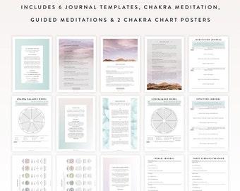 Inner Wisdom Kit / Journal Template, Journal Sheet, Yoga Journal, Chakra Meditation, Meditation Guide, Intuition Journal, Bullet Journal