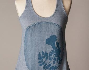 women's tank top, soft blue tank top, comfortable athletic wear, athleisure wear