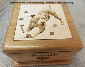 Medium Sized Pet Urn - Laser Engraved