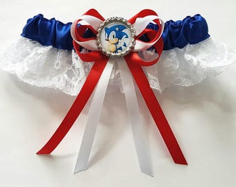 Sonic The Hedgehog Satin/Satin and Lace/Garter Set