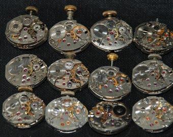 Vintage Antique Tiny Watch Movements Steampunk RT 44