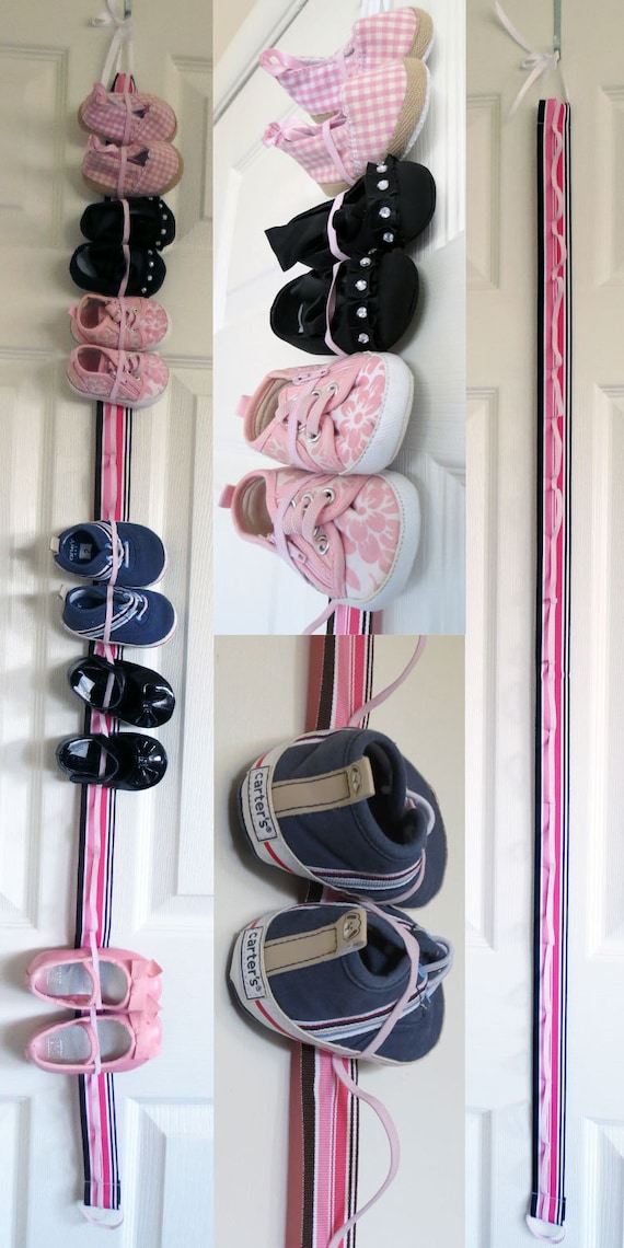 Hanging Baby Shoe Organizer with Elastic