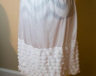 Layered Ruffle Skirt/Dress Extender, Slip Lengthener