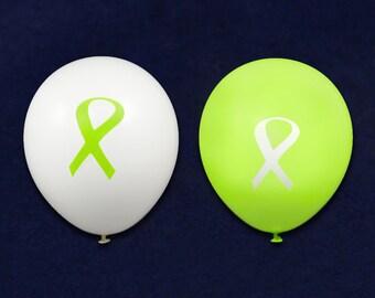 Lime Green Ribbon Balloons (25 Balloons) (BAL-9)