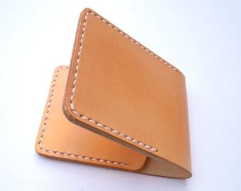 Handmade mens womens leather wallet card holder gift