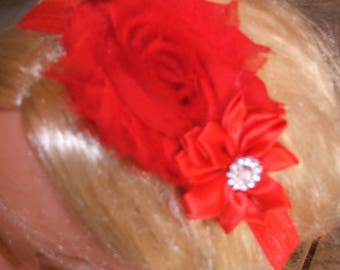 Bow headband - elastic - various colors from 3 months
