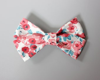 Red Floral Blend Bow, Bows Headband, Baby Girl Bows, Toddler Bows, Baby Shower Gift, Infant Bows