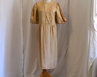 80s Ronnie Heller for MJ Beige Dress As Is Costume Sz M