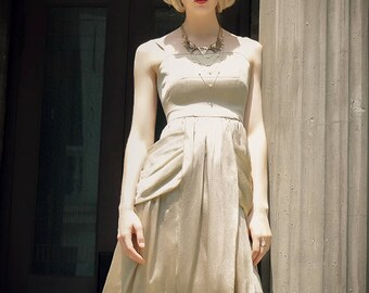 Vintage Retro Fashion Maxi Dress Wedding Dress Summer Camisole Dress