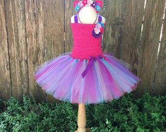 Unicorn costume - unicorn tutu -  girls Halloween costume - gifts for girls - unicorn dress - pink and purple tutu - unicorn tutu dress