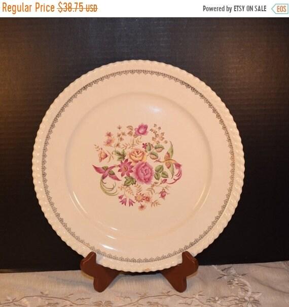 Delayed Shipping Badonviller Bilbao Platter Vintage KG Luneville French Serving Plate Keller Guerin France Dinnerware Pink Serving Platter W