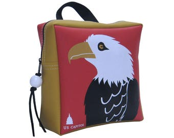 Toddler US CAPITOL EAGLE Backpack by Little Packrats, Gift for Bird Lover, Kid Size Eagle Backpack