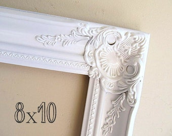 8x10 Picture Frame Small Picture Frame Wedding Frame for Parents Bridesmade Gift Nursery Wall Decor Shabby Chic Baroque 8x10 Frame Baby Gift
