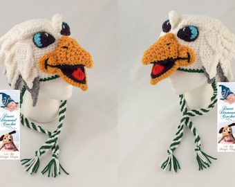 Crochet Pattern 095 - Swoop the Philadelphia Eagle Hat - All Sizes