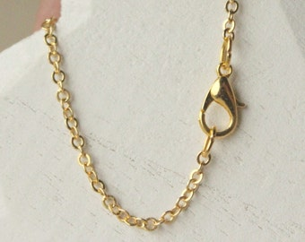 Tiny gold necklace Etsy