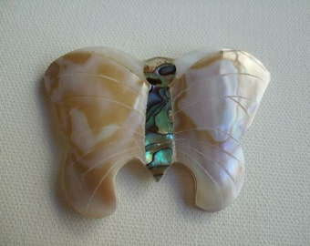 Large Shell Butterfly Pendant
