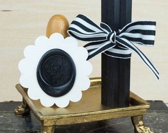 All Natural Sealing Wax Sticks - Set of 4 in Black