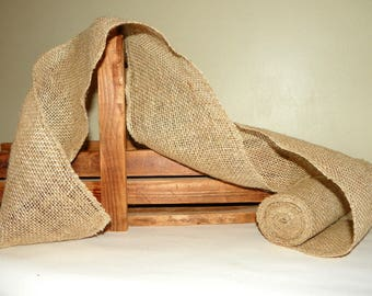 BURLAP RIBBON ~ 4 PACK of 6 Inch Wide Rolled Edged Burlap Ribbon, 20 Yards or 60 Feet, Primitive Rustic Bows, Wraps, Centerpieces & Decor,