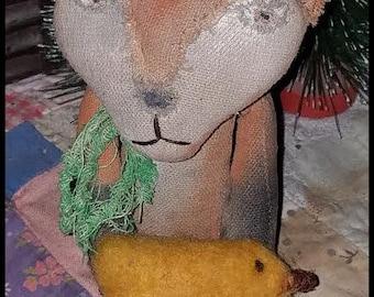 Primitive Fox Pattern ePattern Felted Chick Animal Doll Free Sitting Bonus Staining Video by Hickety Pickety