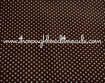 Little Polka Dots - Vintage Fabric New Old Stock Chocolate Brown