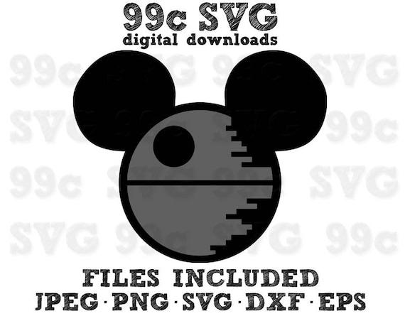 star wars mickey death star svg dxf png vector cut file cricut