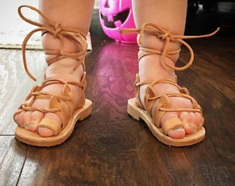 Girl's Gladiator Sandals, Toddler Gladiator Sandals, Kid's Greek Sandals