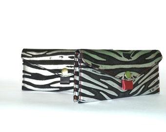 women's wallet zebra