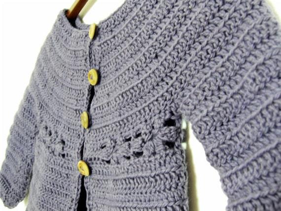 Instant download PDF crochet pattern - Mini Marguerite cardigan ...