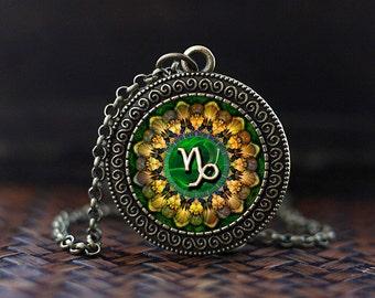 Capricorn Zodiac Necklace, Capricorn Pendant, Capricorn Zodiac Jewelry, Capricorn constellation Necklace, Zodiac Sign