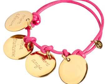Plate or personalised with four medals bracelet