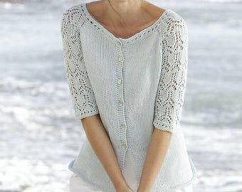 Summer Cardigan with 3/4 lace sleeves