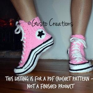 crochet converse shoes pattern tutorial pants off dance off unce