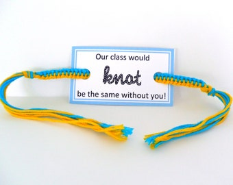 INSTANT DOWNLOAD - Friendship Bracelet Class Party Favor Card Printable - 20 Cards per Sheet