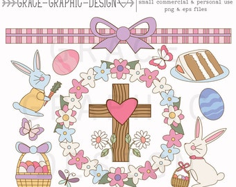 Easter Clipart, Vector Clipart, Easter Vector Graphics, Instant Digital Download