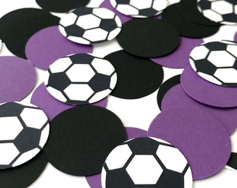 Soccer confetti 240 ct, team party, choose your colors, sports theme party, boy birthday, Birthday, baby, party decoration,