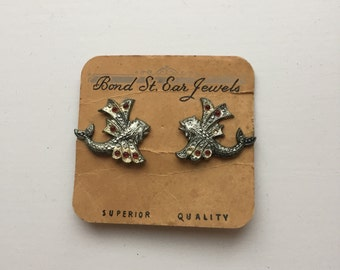 Bond Street Ear Jewels Clip On Flying Fish Earrings