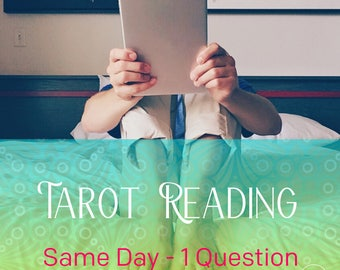SAME DAY Psychic Tarot Reading, 200 words within 24 hours by email