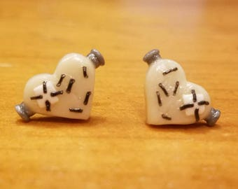 Frankenstein's Monster Heart Earrings