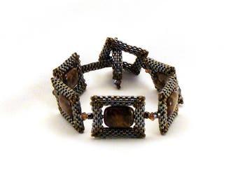 Pietersite in Pewter Links bracelet