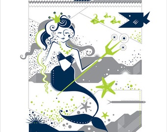 Mermaid Screenprint