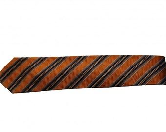 Yacht Stripe Orange & Blue Necktie