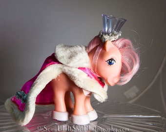 COTTON CANDY 1982 vintage MLP with Royal pony wear